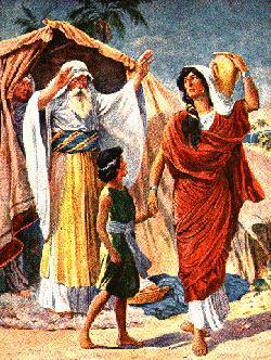Abraham banishes Hagar