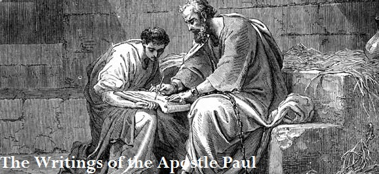 Apostle Paul writing in prison