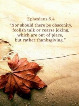 Ephesians 5 4